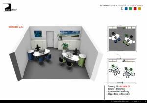 Büroplanung   Reisebüro mit 2 Arbeitsplätzen