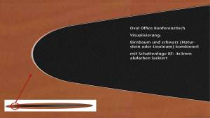 circon s-class 12m Boardroom table for Oval Office Hamburg