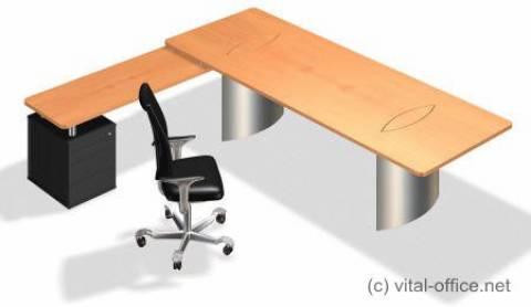 circon executive basic - executive desk - Customized desk sizes