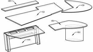 circon executive jet - executive desk - Design Black & White