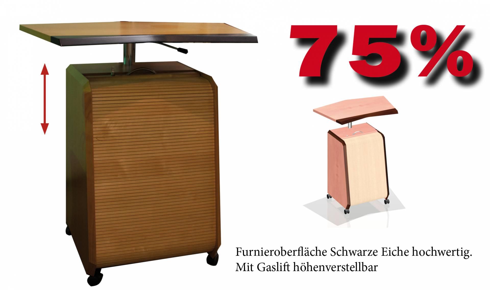 Stehpult In Echtholz Mit Rolladenunterschrank 622x612x900mm Vital