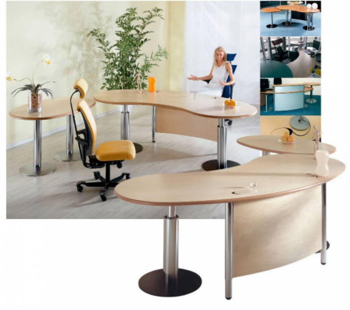 Desks Infinity Design C Style Elegant Cable Management