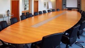 circon s-class - 8x3m - Oval elliptical conference table for Aspecta, Hamburg