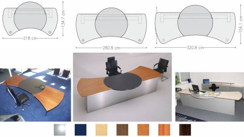 circon executive command - executive desk - in all sizes to fit in any office layout