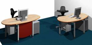 desks - infinity design e-style - Space saving workstations