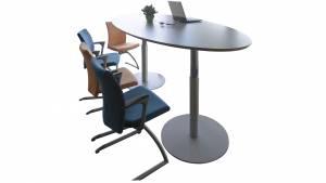 Variconferenz - Variable Conference tables as elliptical or boat table