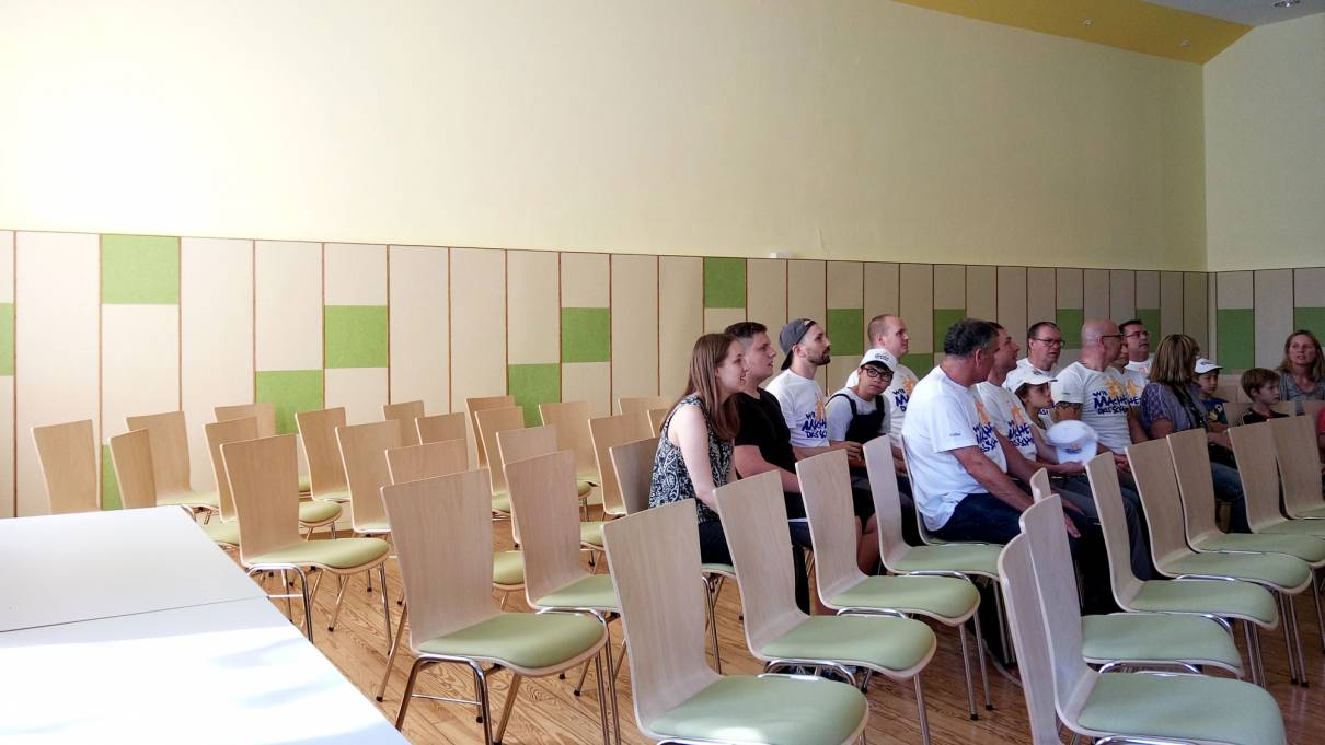Room acoustic measure for the Ballroom of the youth aid Waldhaus in Malsch