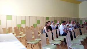 Room acoustics solution for the ballroom of the youth school Waldhaus in Malsch