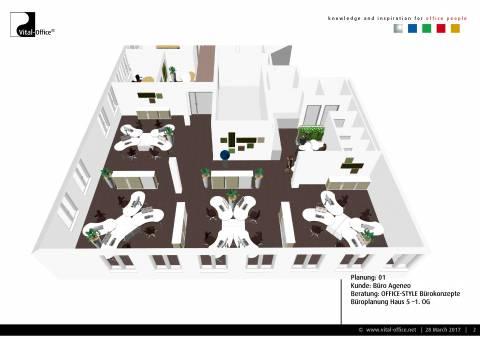 Büroplanung   Büro Ageneo im WOCON V München-Giesing