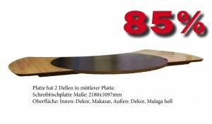Cheftisch Command Tischplatte in Dekor 2180x1097mm