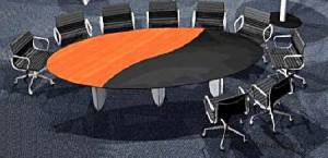 circon s-class - 3x1m - creative top segmentation for conference tables