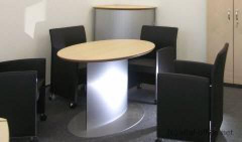 circon s-class - Elliptical one column meeting table