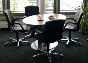 circon s-class - Elliptical one column meeting table