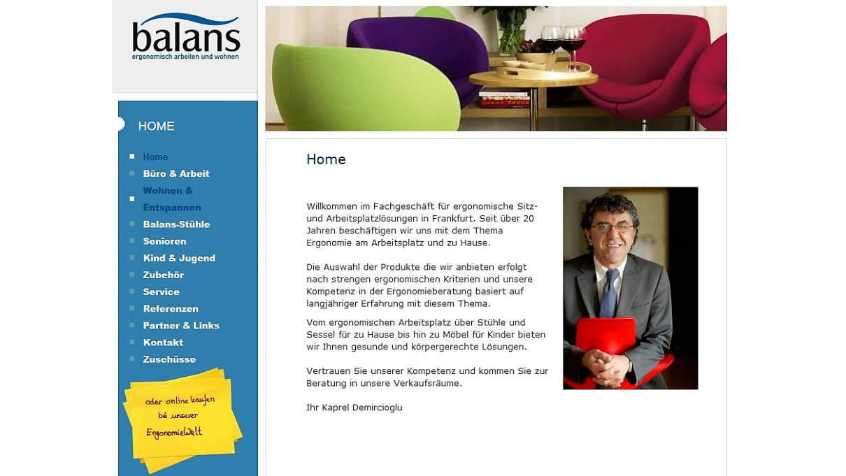 22.11.2008 - Vortrag in Frankfurt bei balans GmbH, Bleichstr. 17, 60313 Frankfurt