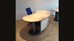 Schreibtisch Workplace Desk 8d2b45-MCP 1910x1005mm mit Protektion/Sichtblende