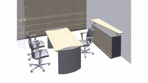 circon s-class - Square conference table with extensions
