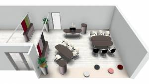 Büroplanung   Flexi-Konferenztische für Kunde aus Japan