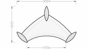 circon executive Cheftisch Wing lackiert 3000x1830mm