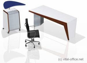 Design Variations with Base Desk and Caddy with Stand-up attachment