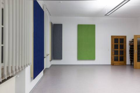 VitAcoustic coloured and highly absorbent broadband surface wall absorbers