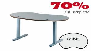 Verkauft: Schreibtisch 8d1b45 in Aludekor (grau) 1686x897mm