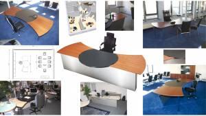 circon executive command - executive desk - 2 circon command in one row