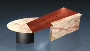 circon executive jet - executive desk - Design Natural Stone