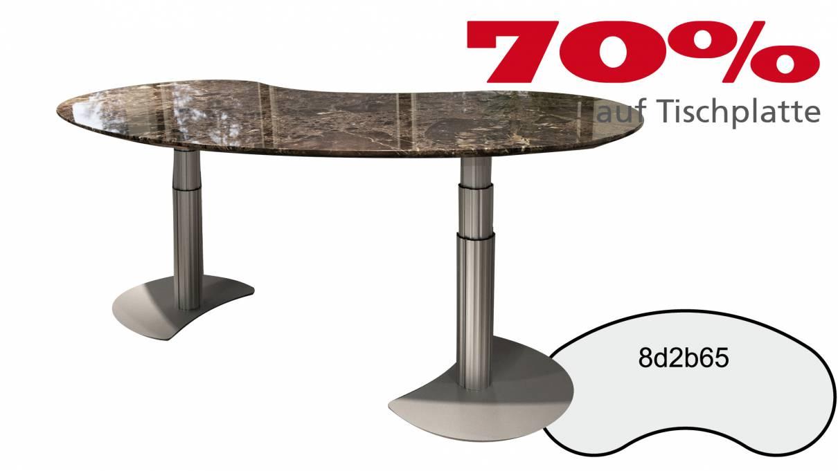Steh- Sitz Schreibtisch 8d2b65 in Naturstein 2315x1111x30mm