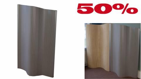 Flexible Stellwand Flexiscreen, laminiert 1200x1600-1800mm / Alu