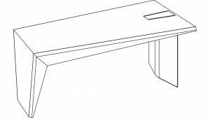 Face - circon face desk base unit with leg