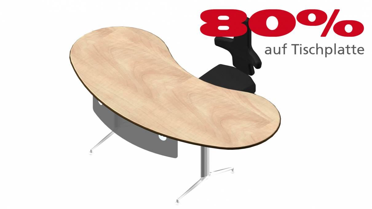 Schreibtisch 8d2b65 in Birne hell Dekor 2315x1111mm