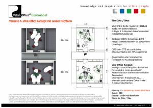 Büro Erweiterung für Bayrisches Rotes Kreuz (rund und gerade im Vergleich)