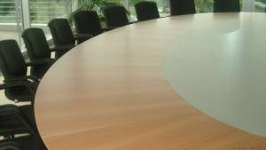 circon s-class - 6x4m - Elliptical conference table for HDI, Hilden
