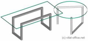circon executive glass classics - executive desk - BAUHAUS design