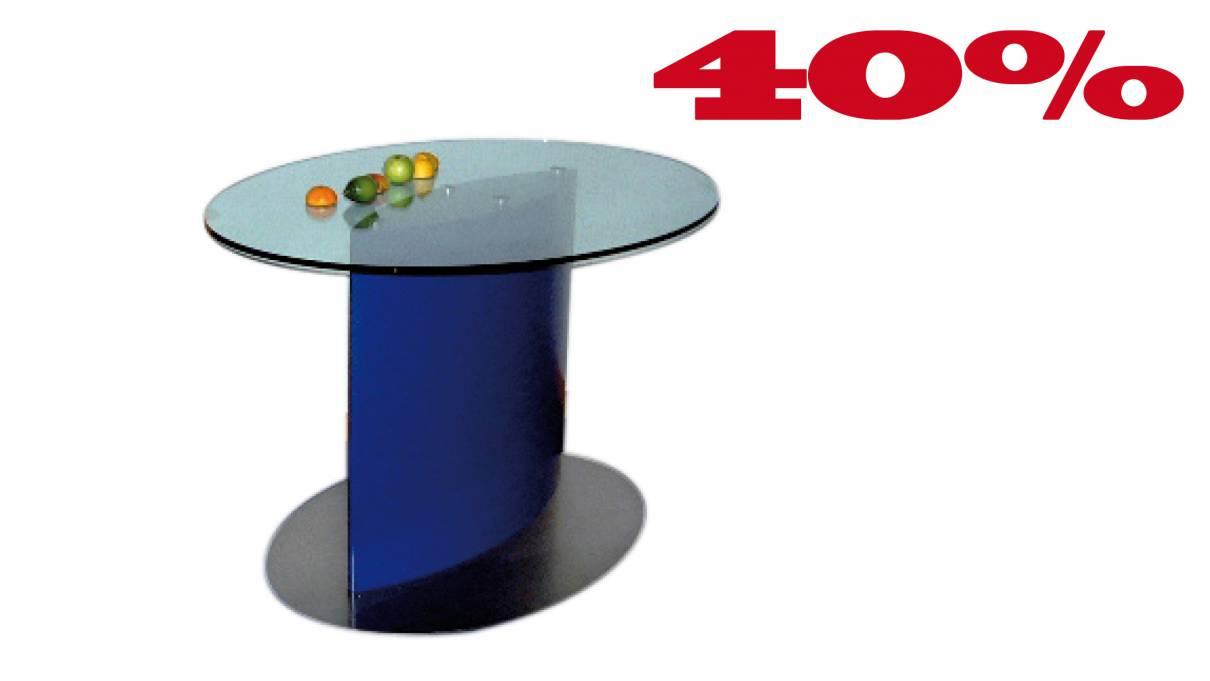 Konferenztisch Ellipse L1209 in Glas 1200x900mm