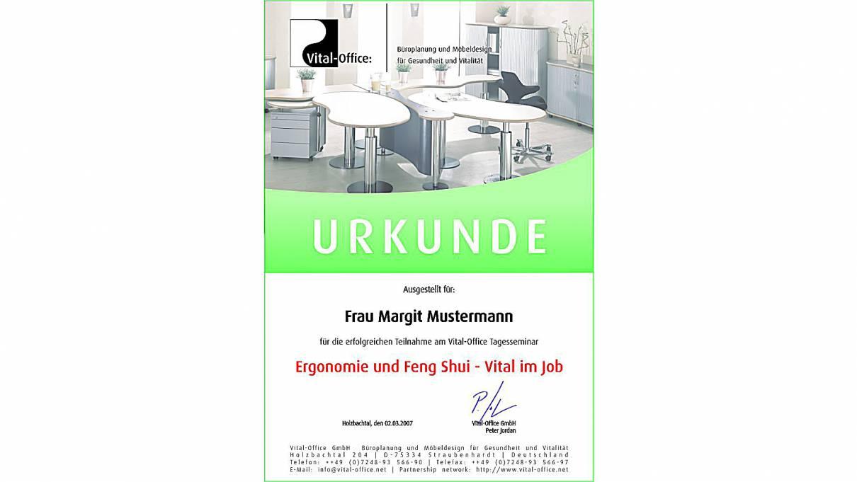 02.03.2007 - Tagesseminar Ergonomie und Feng Shui - Vital im Job