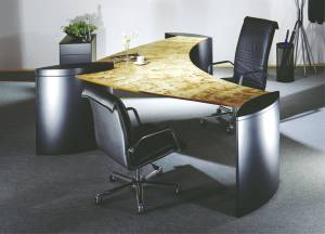 circon executive wing - executive desk - Special veneers