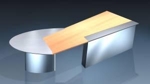 circon executive jet - executive desk - Design: Ambience chrome