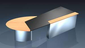 circon executive jet - executive desk - Design: Ambience chrome