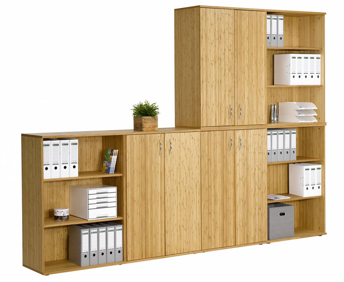 Charmant Bamboo Solid Wood Stackable Cabinets (Sitwell Collection)