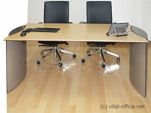 circon executive basic - executive desk - Base table with outside bases