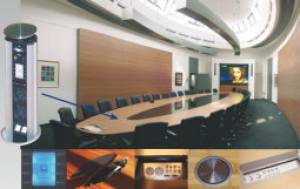 Media planning - media technology integrated in the furniture for communication and presentation