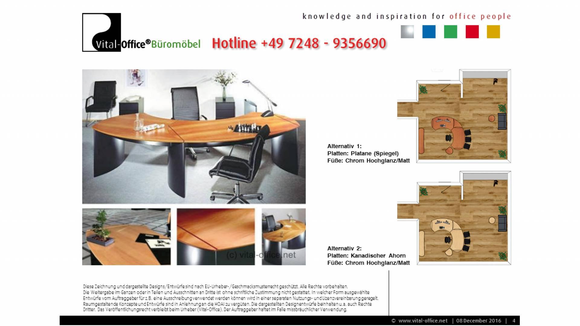 Büroplanung Chefbüro Mobilfunk Südpfalz - Vital-Office