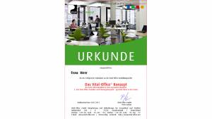 """27.04.2012 - Ausbildungsreihe:  2.  """"Die Vital-Office Produkte und Planungsbeispiele"""" .. gesunde Büros in der Praxis"""