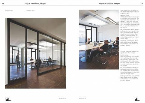 Artundweise Newport, Bremen - new creative work environment with ergonomic green bamboo desks, Feng Shui, True Light and acoustics