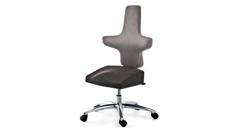WEY-chair 106 saddle chair DUOcolor GREY