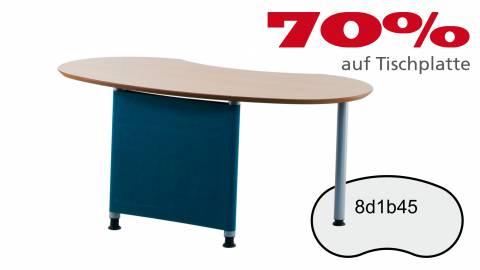 Verkauft: Schreibtisch 8d1b45 in Birne classic Dekor 1686x897mm