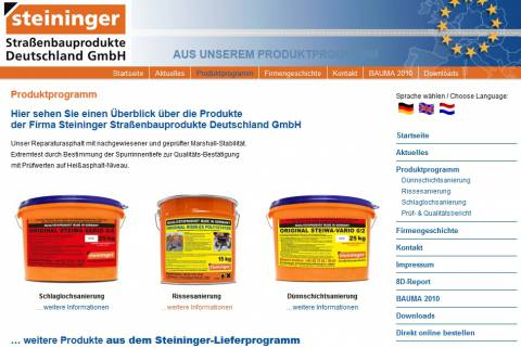 VitAcoustic stops at Steininger Road Construction Products GmbH