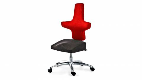 WEY-chair 106 saddle chair DUOcolor RED