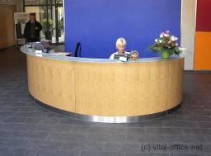 Design reception in elliptical form